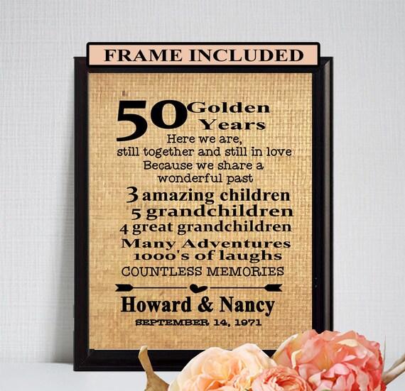 50 Hochzeitstag 50 Jahrestagsgeschenk Goldene Hochzeit Etsy