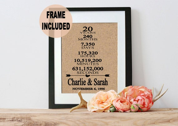 Traditional 20th Wedding Anniversary Gifts: Items Similar To 20 Year Wedding Anniversary