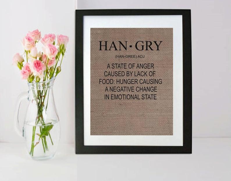 HANGRY Küche-Zeichen lustige Küchen Zeichen lustige | Etsy