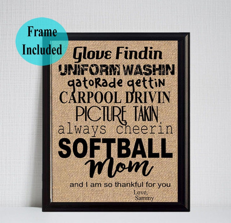 Softball Mom Gift/ Mother\'s Day Gift Softball Mom/