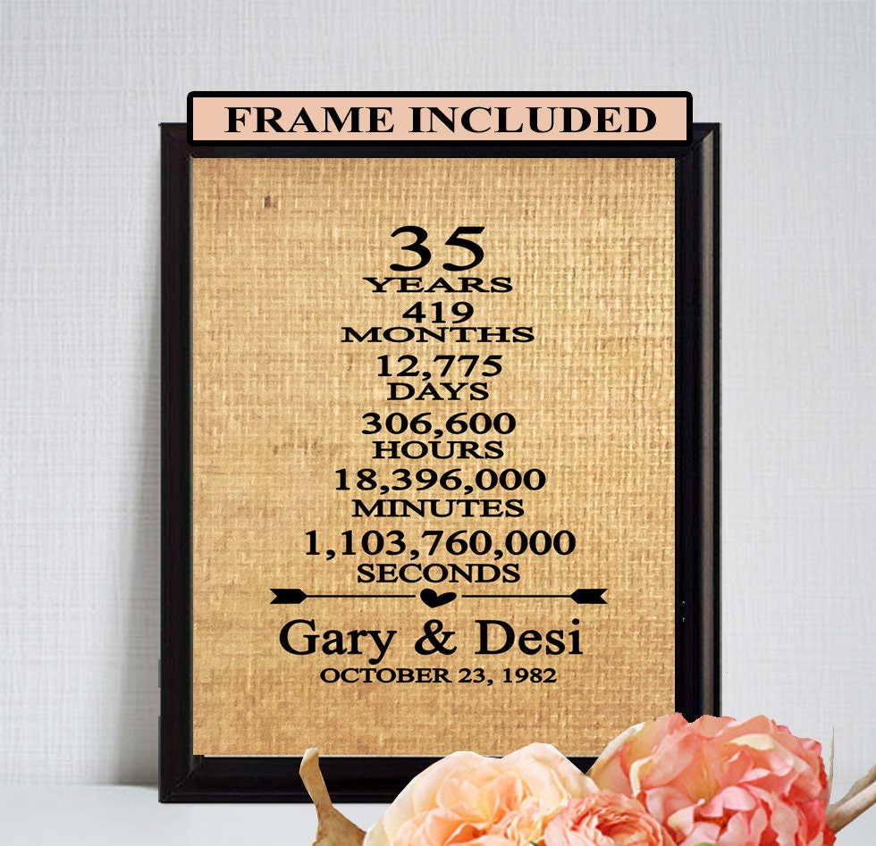 The 35 Best Wedding Gifts Of 2020: 35th Anniversary 35th Wedding Anniversary 35th Gift For