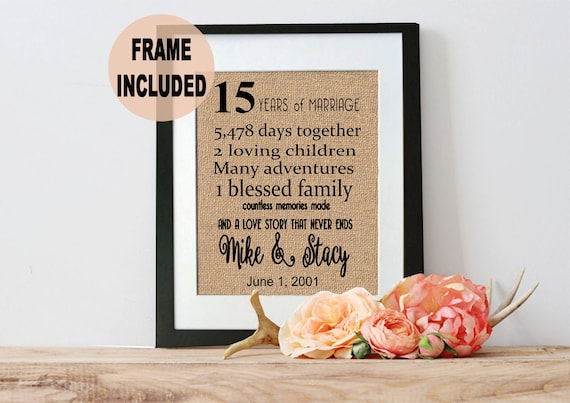15 Wedding Anniversary Gift Ideas For Him: Items Similar To 15 Year Anniversary Gift, 15th