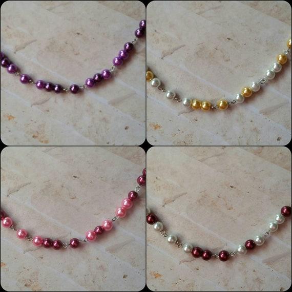 SCREW TRUMP necklace, Screw Trump Morse code necklace, Morse code necklace, silver tone, stainless steel, glass beads, Anti-Trump jewelry