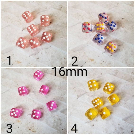 Extra d6 dnd dice, extra polyhedral gaming dice, DnD dice, RPG dice, D and D dice, spare dice, spare d6 dice, rounded edges, 16mm