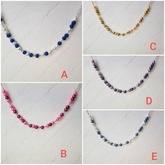 F... TRUMP necklace, Screw Trump Morse code necklace, Morse code necklace, silver tone, stainless steel, glass beads, Anti-Trump jewelry