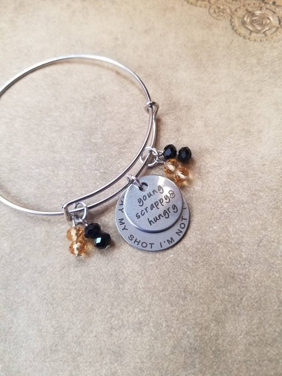 Hamilton bracelet, Hamilton charm bangle, silver toned bangle,  expandable bangle, charm bracelet, Hamilton charm bangle, Hamilton musical