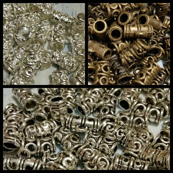 Destash, bails, metal jewelry bails in bright or antique silver and bronze x 20, choice of three