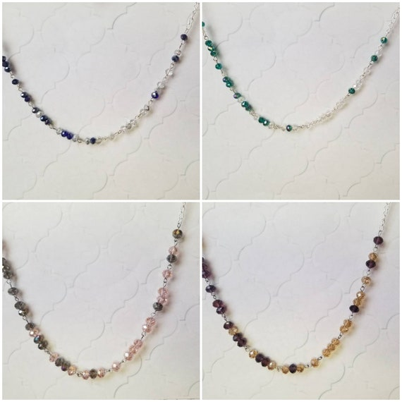 NOT MY PRESIDENT necklace, Not my president Morse code necklace, Morse code necklace, silver tone, Czech faceted glass beads, choice of four