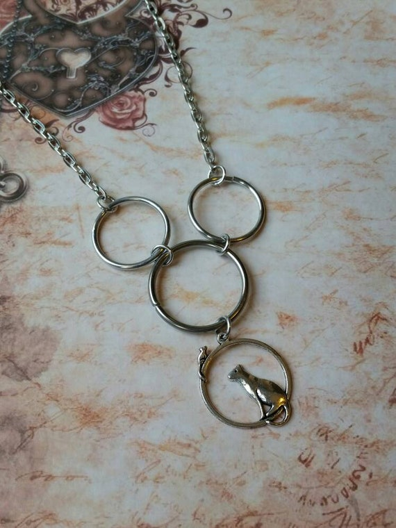 Kitten day collar, discreet day collar, symbolic jewelry, BDSM collar, submissive collar, silver day collar, kitten charm, princess collar