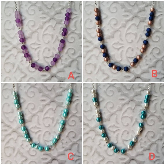F... TRUMP necklace, Screw Trump Morse code necklace, Morse code necklace, silver tone, glass beads, Anti-Trump jewelry