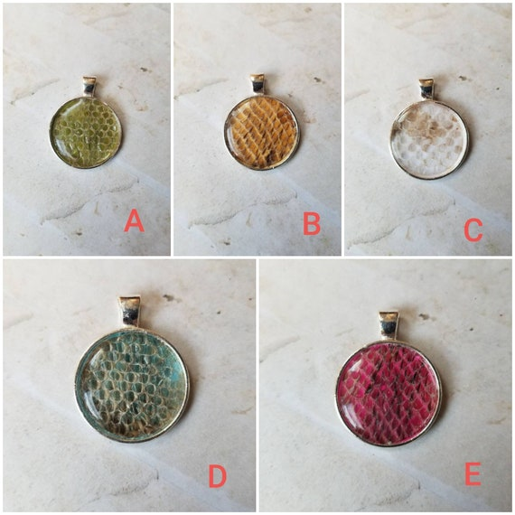 Snake shed jewelry, snake shed pendant, snakeskin necklace, cruelty free snake shed jewelry, snake shed behind glass or silicone,unique gift