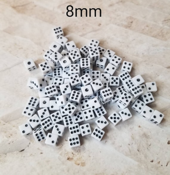 8mm d6 dnd dice, extra polyhedral gaming dice, DnD dice, RPG dice, D and D dice, spare die, spare d6 dice, sharp edge, 8mm dice
