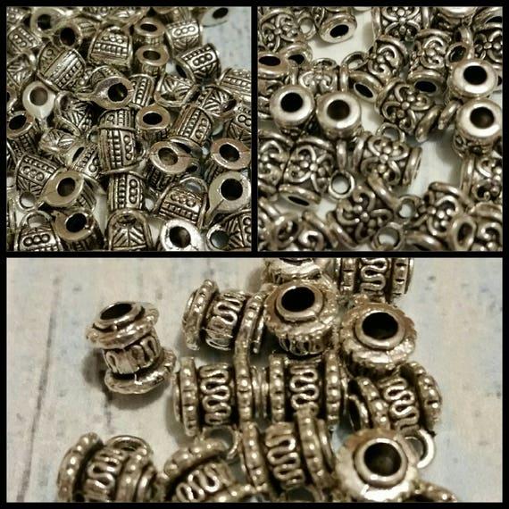 Destash, bails, silver-toned metal jewelry bails x 20, three styles