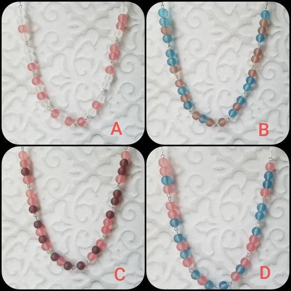 F... TRUMP necklace, Screw Trump Morse code necklace, Morse code necklace, silver tone, frosted glass, Anti-Trump jewelry