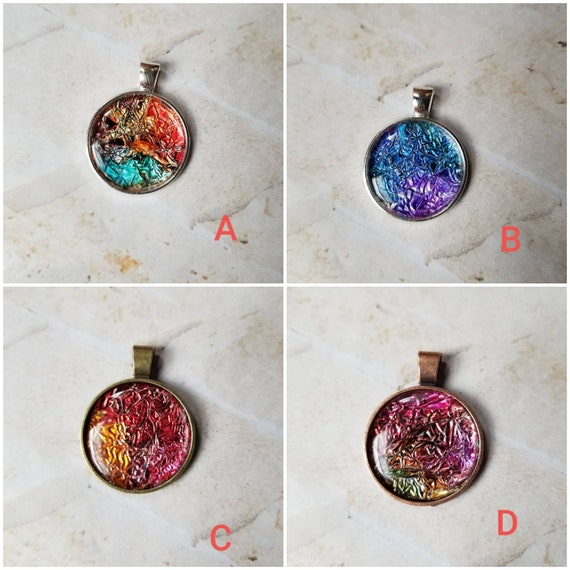 Alcohol ink art jewelry, alcohol ink pendant, alcohol ink on foil, original art jewelry, alcohol ink pendant, alcohol ink necklace