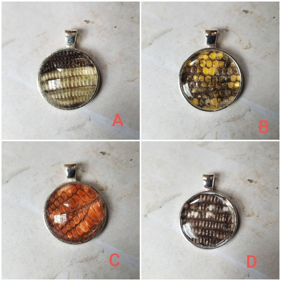 Tegu shed jewelry, reptile shed pendant, Tegu necklace, cruelty free Tegu shed jewelry, Tegu shed behind glass, gift for reptile lover
