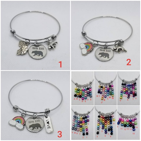 LGBTQ pride bangle, stainless steel charm bangle, Pride jewelry, build your own bangle, 42 different Pride flags, silver toned charms