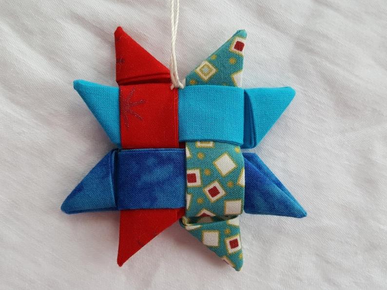 RedGreenBlueWhiteOrange Christmas Decorations Scandinavian Woven Stars