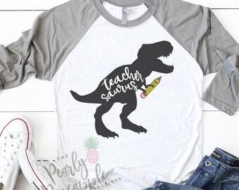 7197ad06 Teacher Shirt-Teacher Shirts-Funny Teacher Shirt-Teacher Gift-Teacher-Teachersaurus-Teachersaurus  Shirt-Funny Teacher Gift-Teacher Life