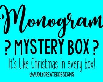 Monthly monogram box | Etsy