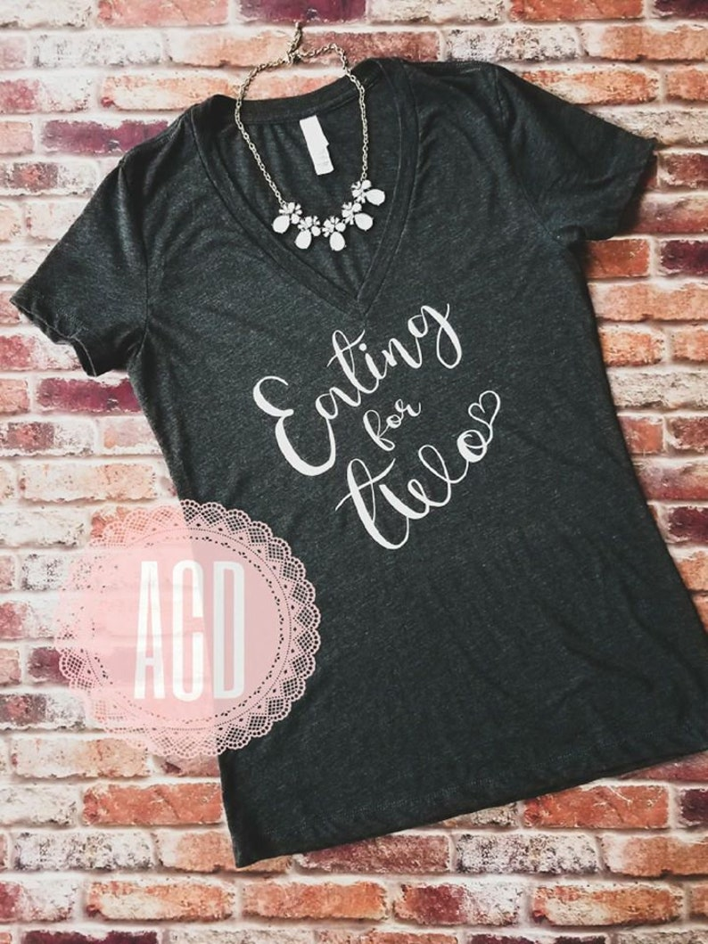 96301e5e Eating for two-new mom shirt-expectant mom shirt-baby shower | Etsy