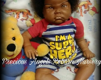 AA Biracial/Ethnic Reborn Small Toddler Custom Made to Order From the Fei Yen Kit