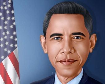 Caricature (Custom Digital Portrait) - Pop Art Portrait Vector - Custom Order