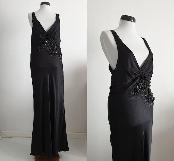 Robert Cavalli  silk dress | black silk dress | lo
