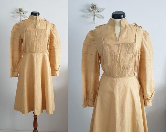 1930s 1940s linen dress   vintage 30s dress