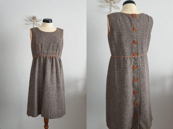 1990s brown dress | vintage 90s dress