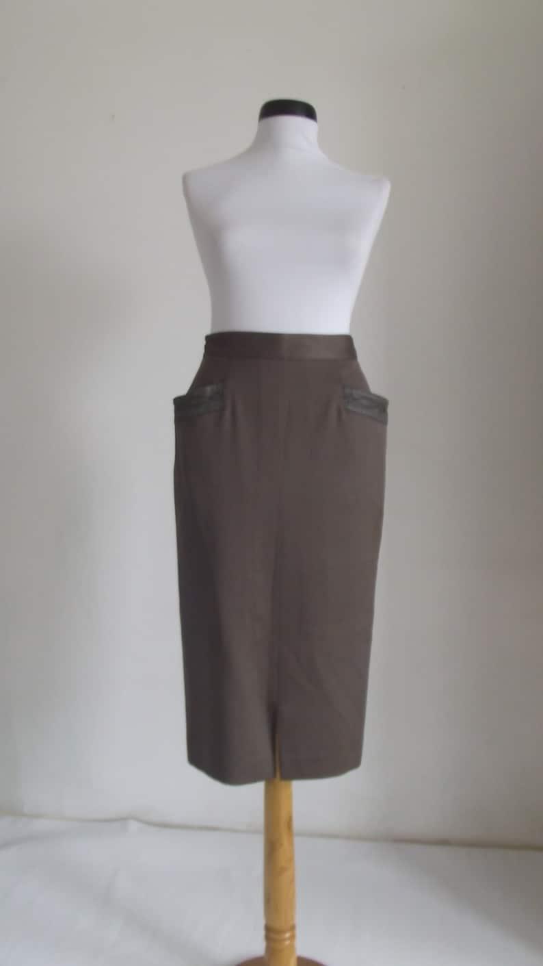 Claude Jaworski pencil skirt  high waisted skirt  vintage70s-80s designer s
