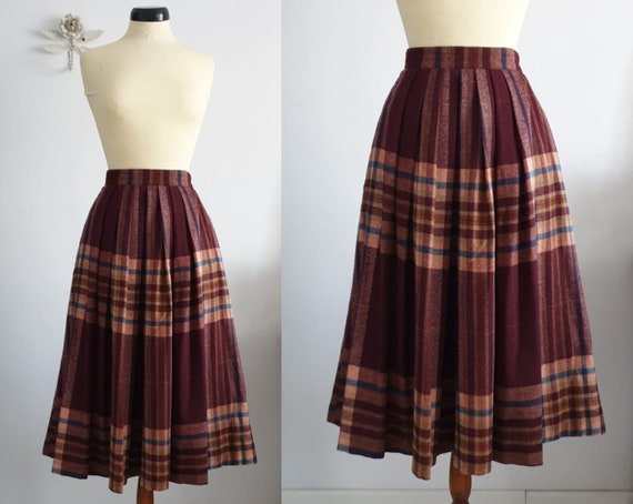 Betty Barclay wool blanket skirt  | vintage 70s wo