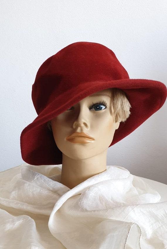 Vintage 1970s fedora hat | red fedora hat | woman… - image 5
