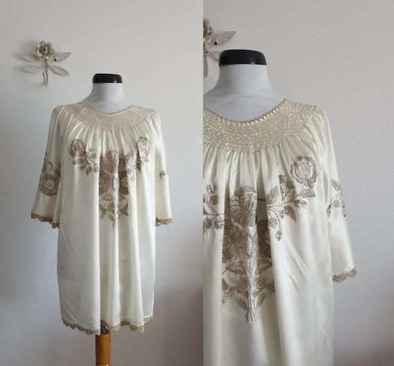 1970s embroidered blouse   vintage 70s blouse
