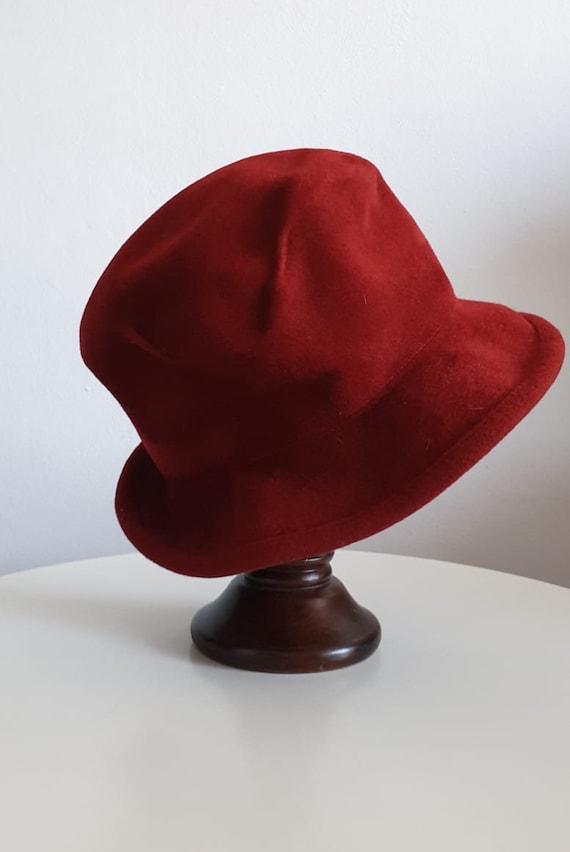 Vintage 1970s fedora hat | red fedora hat | woman… - image 2