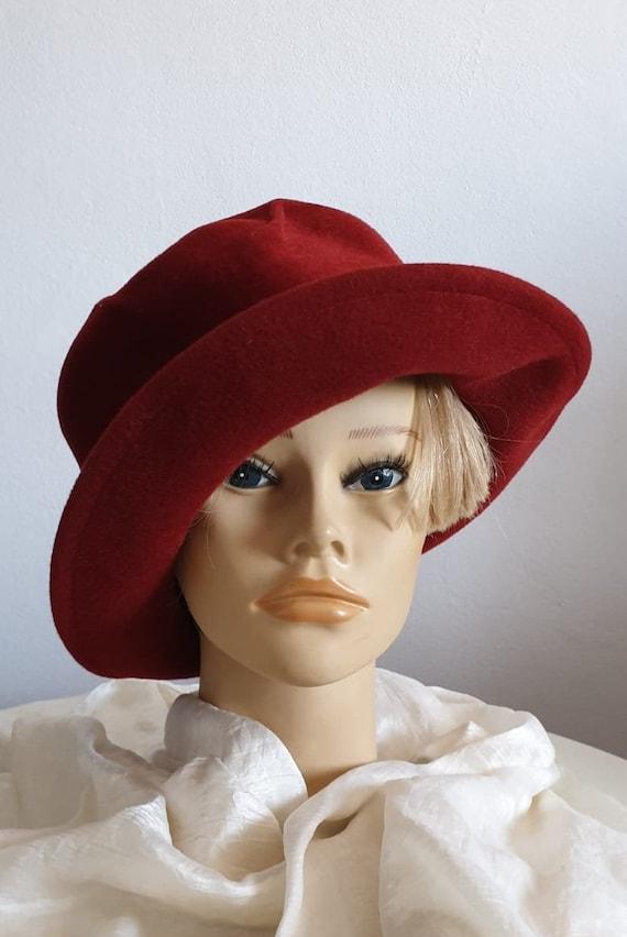 Vintage 1970s fedora hat | red fedora hat | woman… - image 6