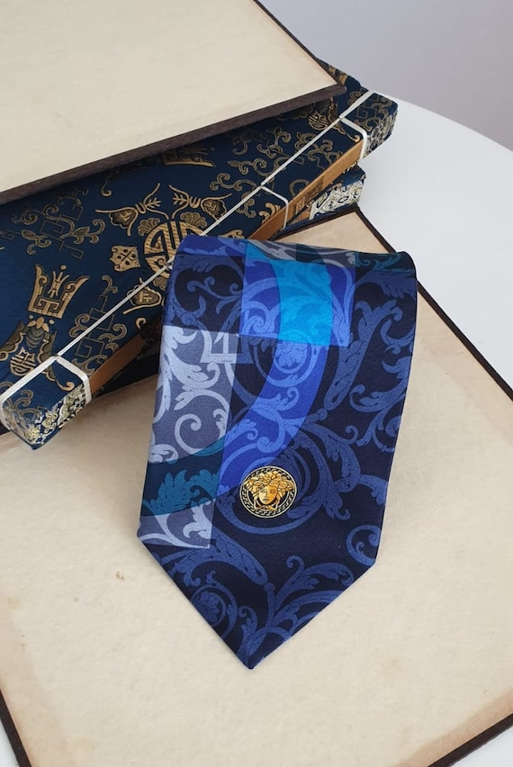 Gianni Versace Tie/ Versace Silk Tie/ Vintage Gian