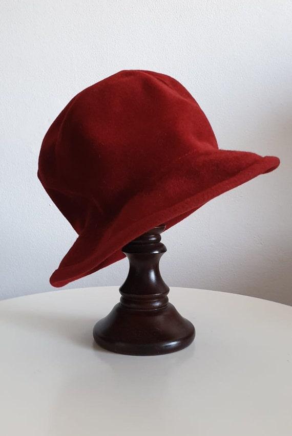 Vintage 1970s fedora hat | red fedora hat | woman… - image 3