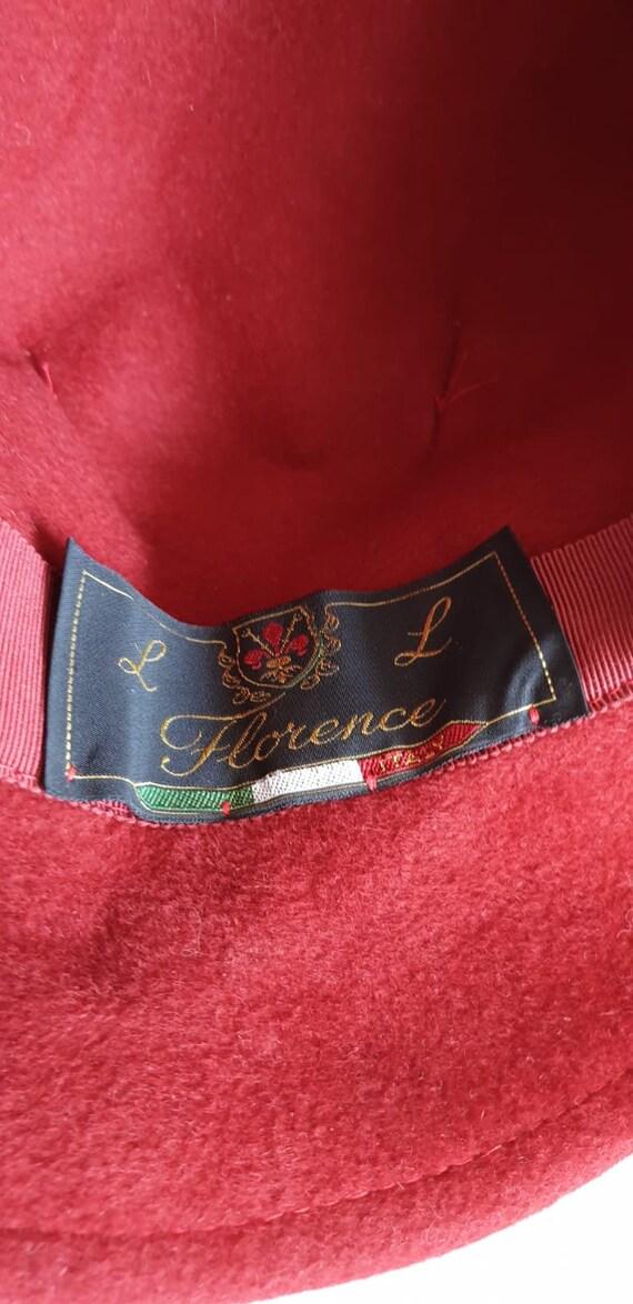 Vintage 1970s fedora hat | red fedora hat | woman… - image 8