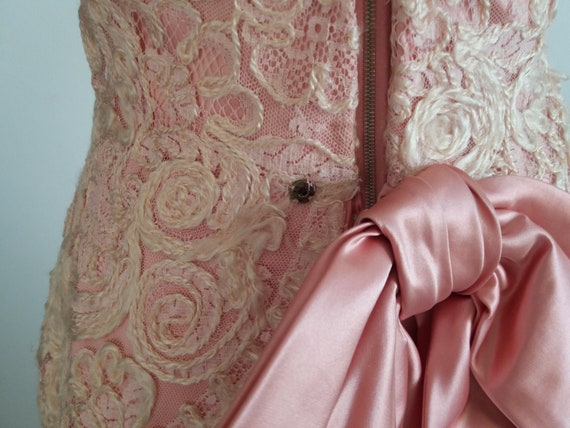 1940s lace&taffeta ball gown | vintage 40s ball g… - image 8