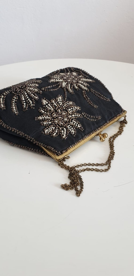 1930s bag purse with beaded embroidery | vintage … - image 4
