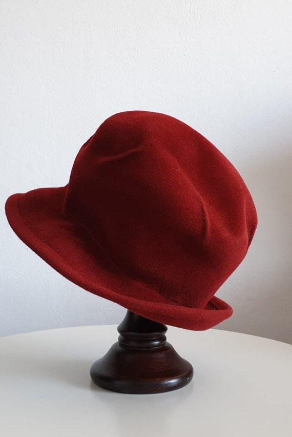 Vintage 1970s fedora hat | red fedora hat | woman… - image 4