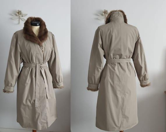 1970s winter coat | vintage 70s trench coat