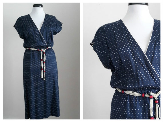 Vintage 1950s polka dots dress | polka dots 50s dr