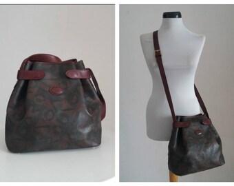 Ungaro Leather Bag | vintage Ungaro leather handbag | cross body leather purse