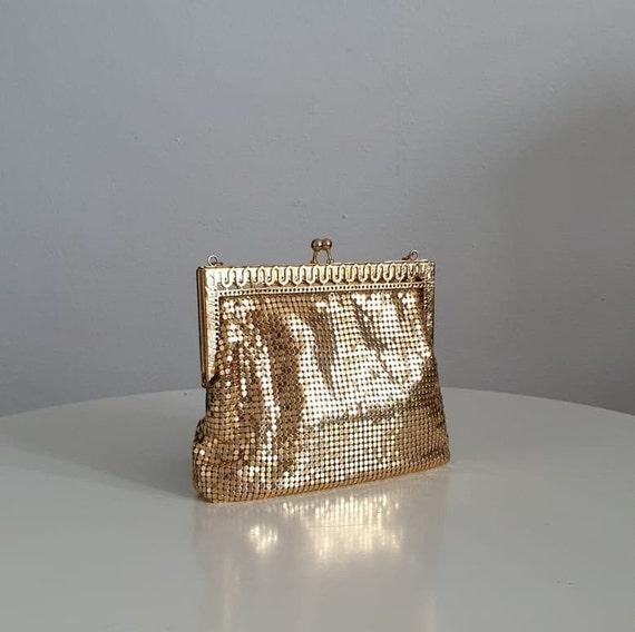 1940s gold metallic mesh evening purse | vintage 4