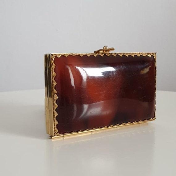 Vintage 1950s lucite case | 50s lucite & gold tone