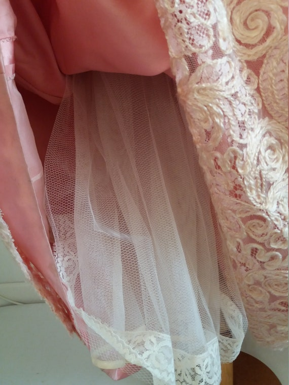 1940s lace&taffeta ball gown | vintage 40s ball g… - image 6