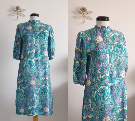 1930s silk dress | vintage 30s silk Art Deco desig