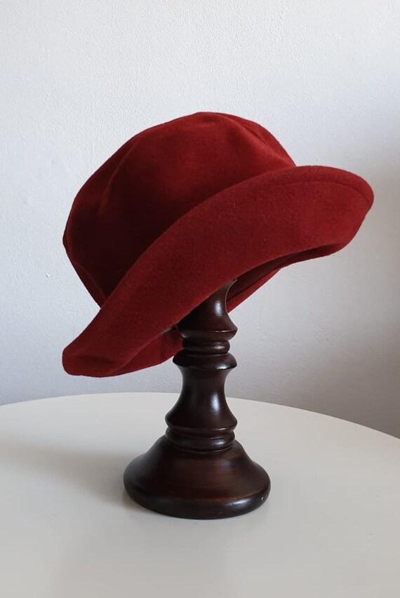 Vintage 1970s fedora hat | red fedora hat | woman… - image 9